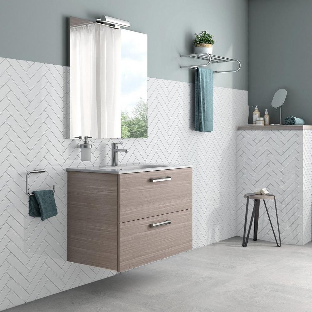 Bright White Ice Polished Ceramic Tile Herringbone tile