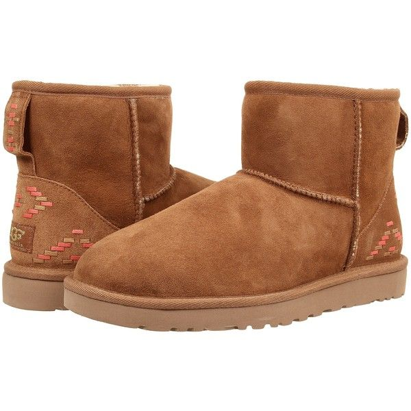 4aad2517dcdb UGG Classic Mini Rustic Weave Women s Boots ( 110) ❤ liked on Polyvore  featuring shoes