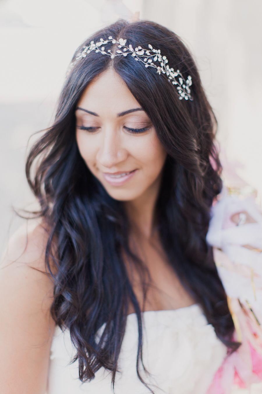 serre tête en fleurs   Serre tete mariage