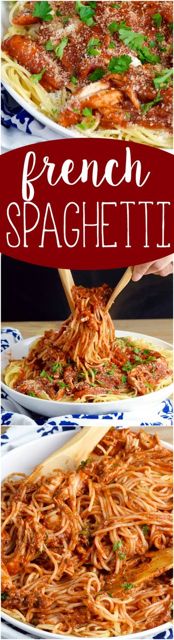 This French Spaghetti is not just a fast and easy dinner, it's going to become your all time favorite spaghetti dinner ever!: