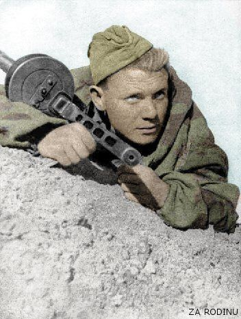 Russian soldier with PPSH