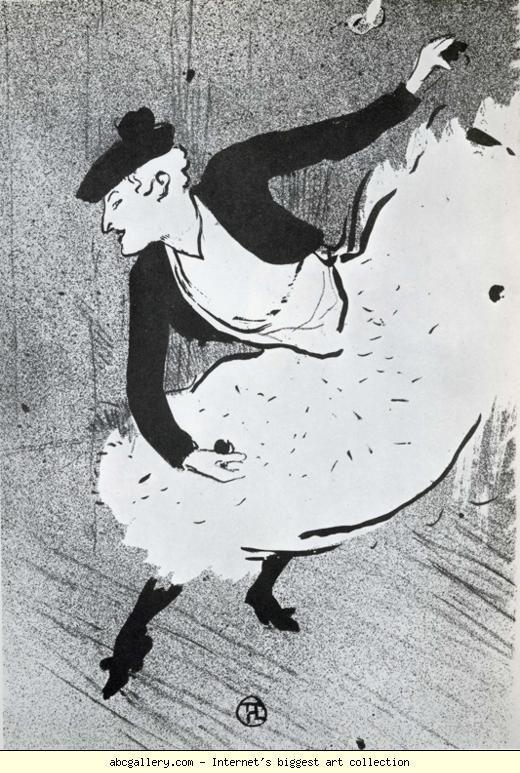 Henri de Toulouse-Lautrec. Edmee Lescot, en Danseuse Espagnole / Edmee Lescot as a Spanish Dancer. Olga's Gallery.