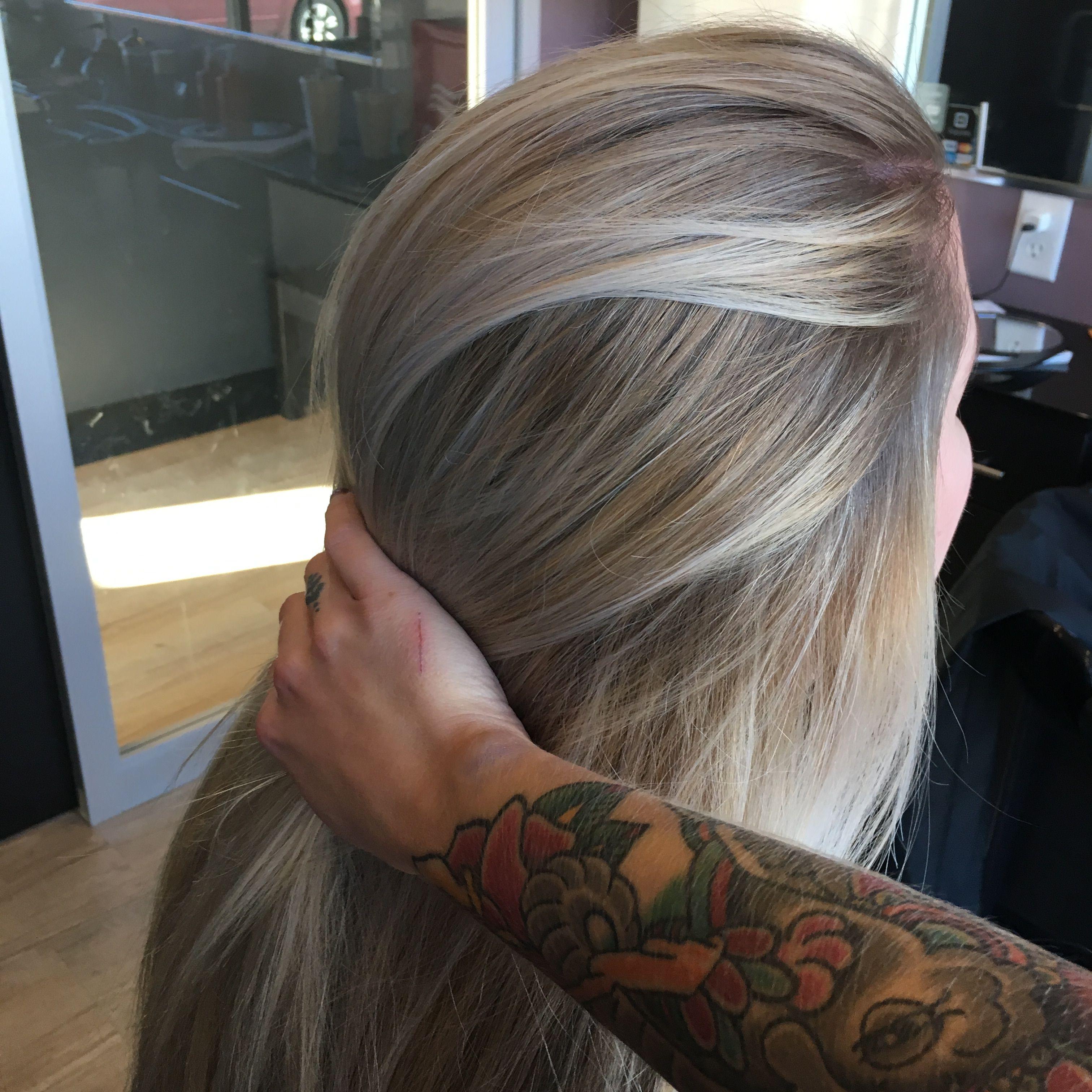 Rooty ash blonde hair dare i covet this hair pinterest ash