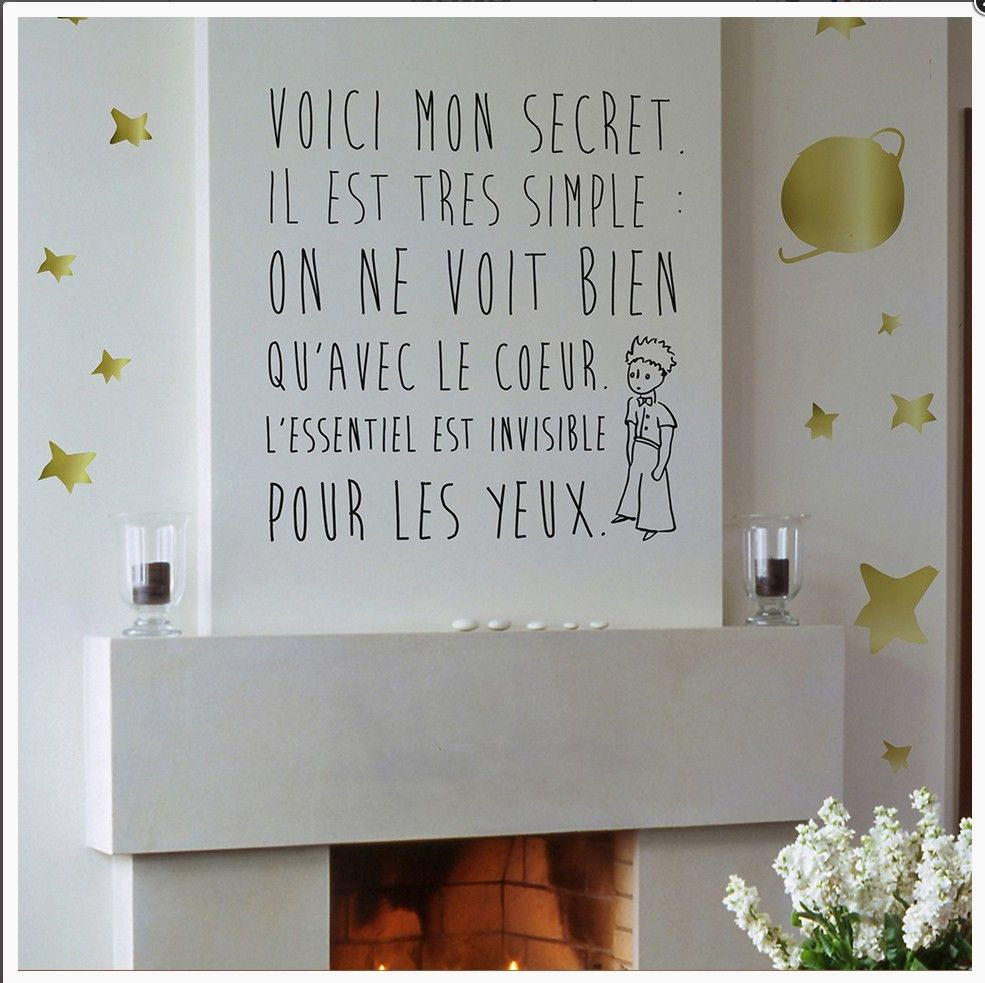 le petit prince d co citation citation fran ais la. Black Bedroom Furniture Sets. Home Design Ideas