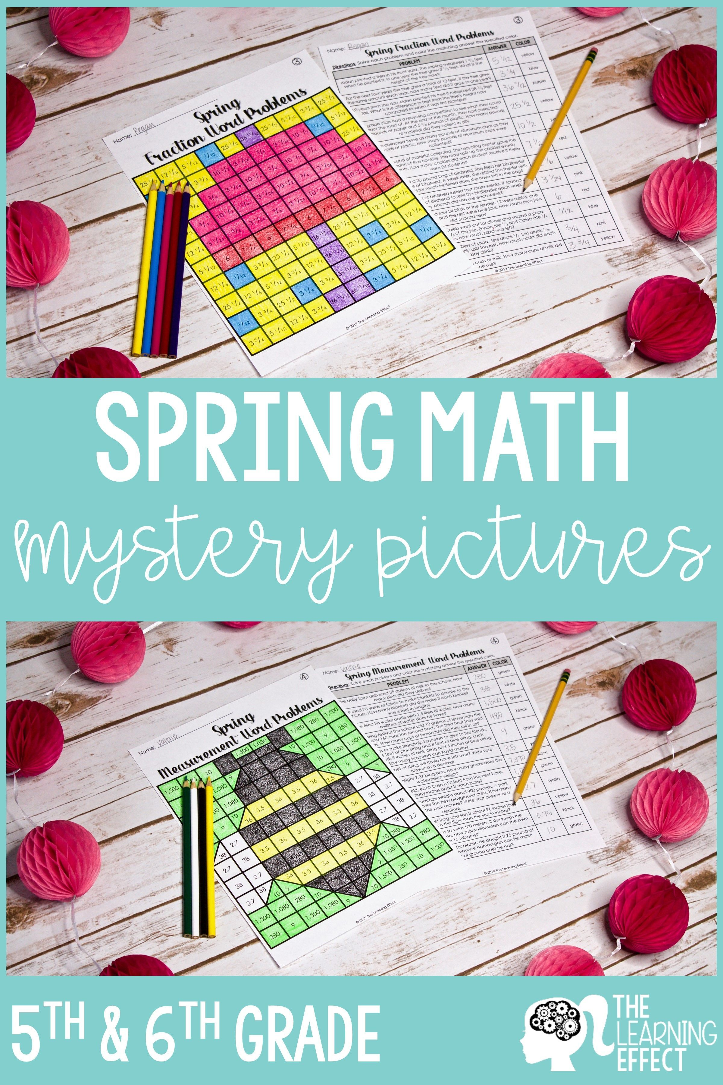 Spring Math Mystery Pictures