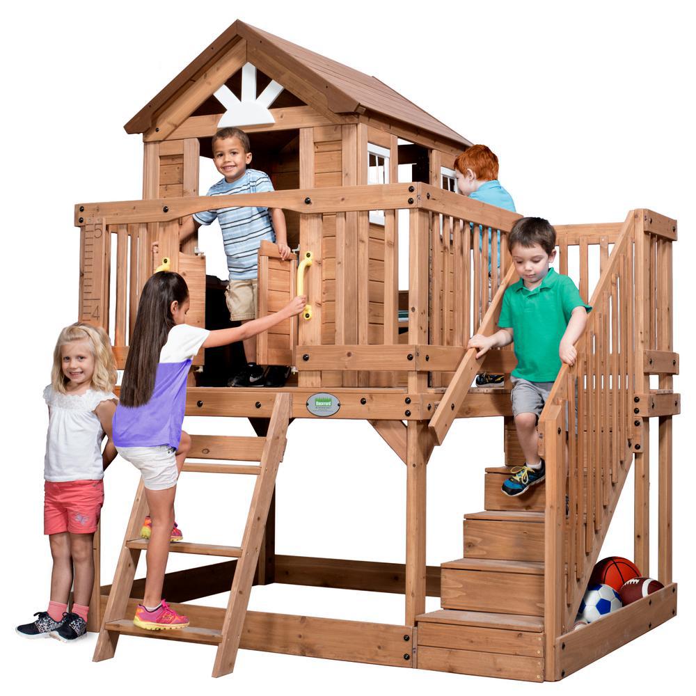 Backyard Discovery Scenic Heights Cedar Playhouse | Cedar ...