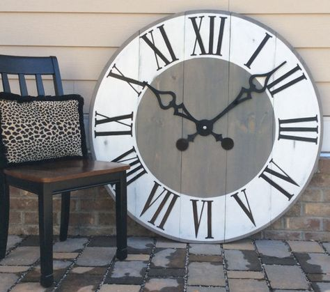 Giant Wall Clock Large Office Wall Art Entryway Decor