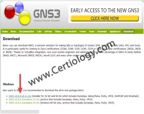 GNS3 Download | certiology | Networking tutorial, Network