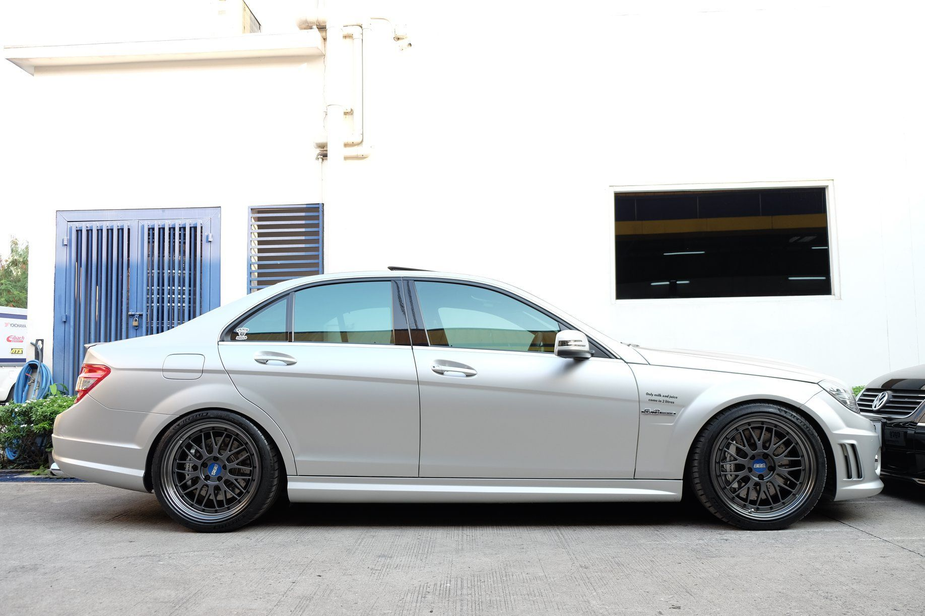 Mercedes Benz C63 Amg W204 Silver Bbs Lm With Images Mercedes