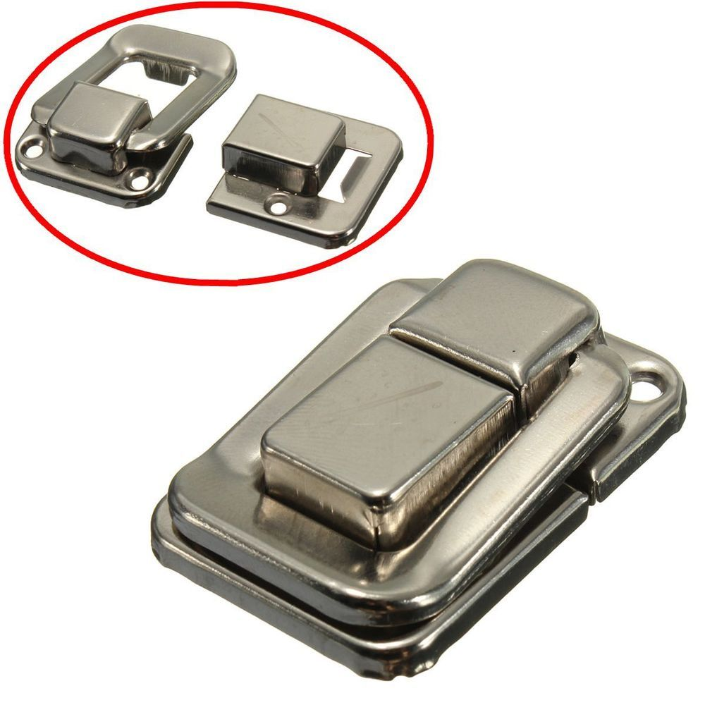 5x Silver Fastener Toggle Latch Catch Chest Case Suitcase Box Chest Trunk Lock