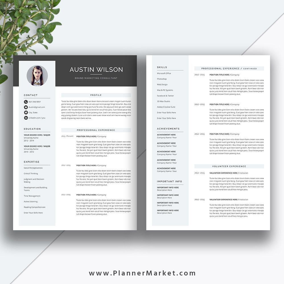 Two Page Resume Template Luxury This Eye Catching Resume