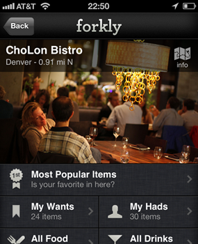 Forkly. Like Yelp for people who love food. With pics!