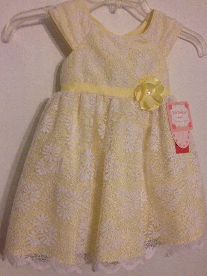 Jona Michelle Dress Size 24m2t Nwt Yellowwhite Lace