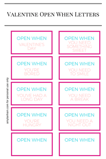 image regarding Open When Letters Printable named Valentines Open up Each time Letters Printable - Printables and