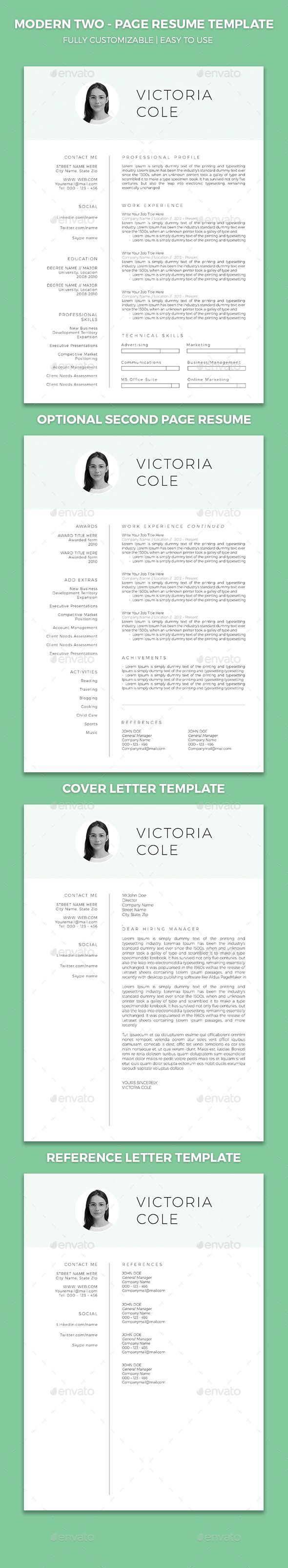 Resume Template With Cover Letter And Reference Letter  Reference