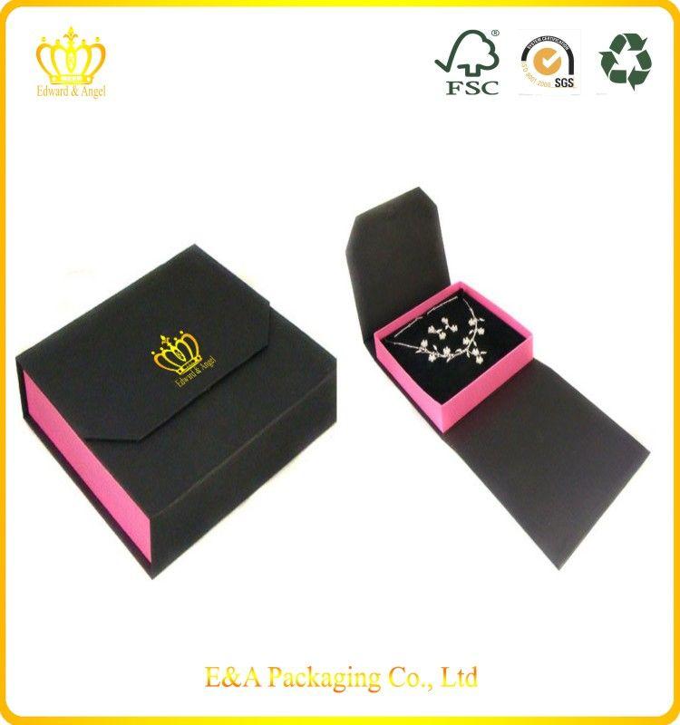 Large black jewellery box for gift Black jewelry Large black