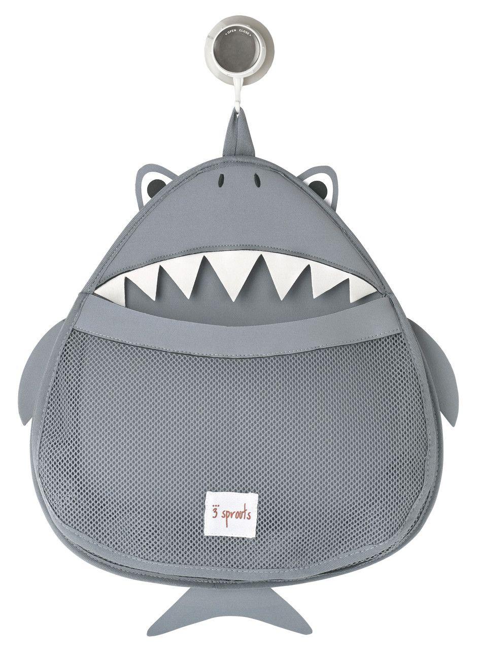 panier rangement jouet bain requin 3 sprouts toy bath. Black Bedroom Furniture Sets. Home Design Ideas