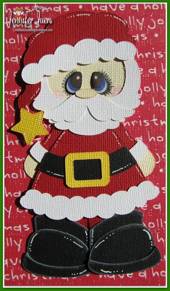 Santa Claus, made to order, premade paper piecing, scrapbook page, album, border, Christmas, on Etsy, $9.99