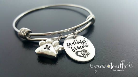 sympathy hand jewelry memorial shaddow bracelet personalized paw with pet stamped prints lauren products print