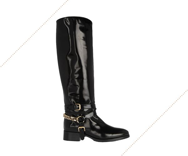 McQ Alexander McQueen patent-leather riding boot, $785 net-a-porter.com