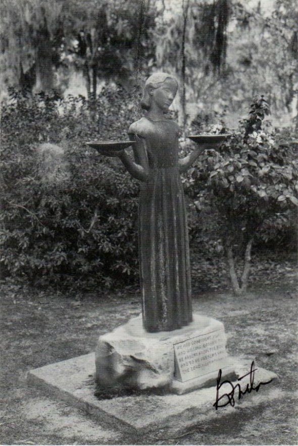 Bird Girl Statue From The Book Midnight In The Garden Of Good And Evil Savannah Georgia