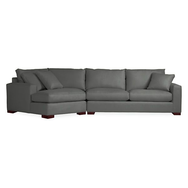 Wonderful Metro Sofa With Angled Chaise   Modern Sectionals   Modern Living Room  Furnitureu2026