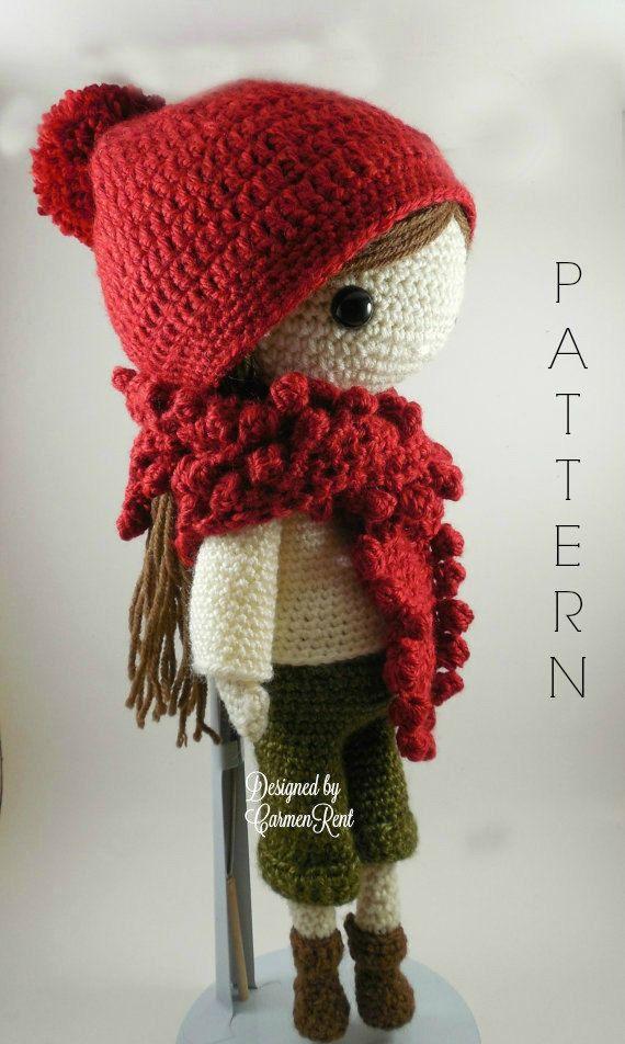 Andrea++Amigurumi+Doll+Crochet+Pattern+PDF+por+CarmenRent+en+Etsy