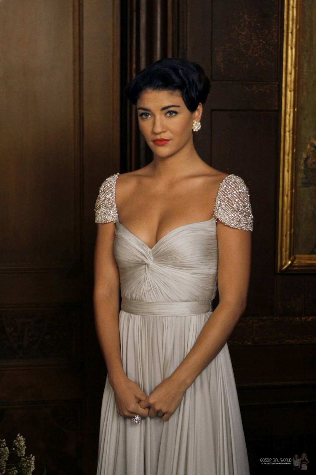 Reem Acra worn by Jessica Szohr | All Doll\'d Up...with Nowhere to Go ...