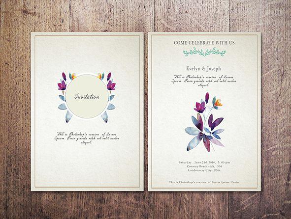 Free Artsy Wedding Invitation Template On Behance Wedding Invitation Templates Wedding Invitations Invitations