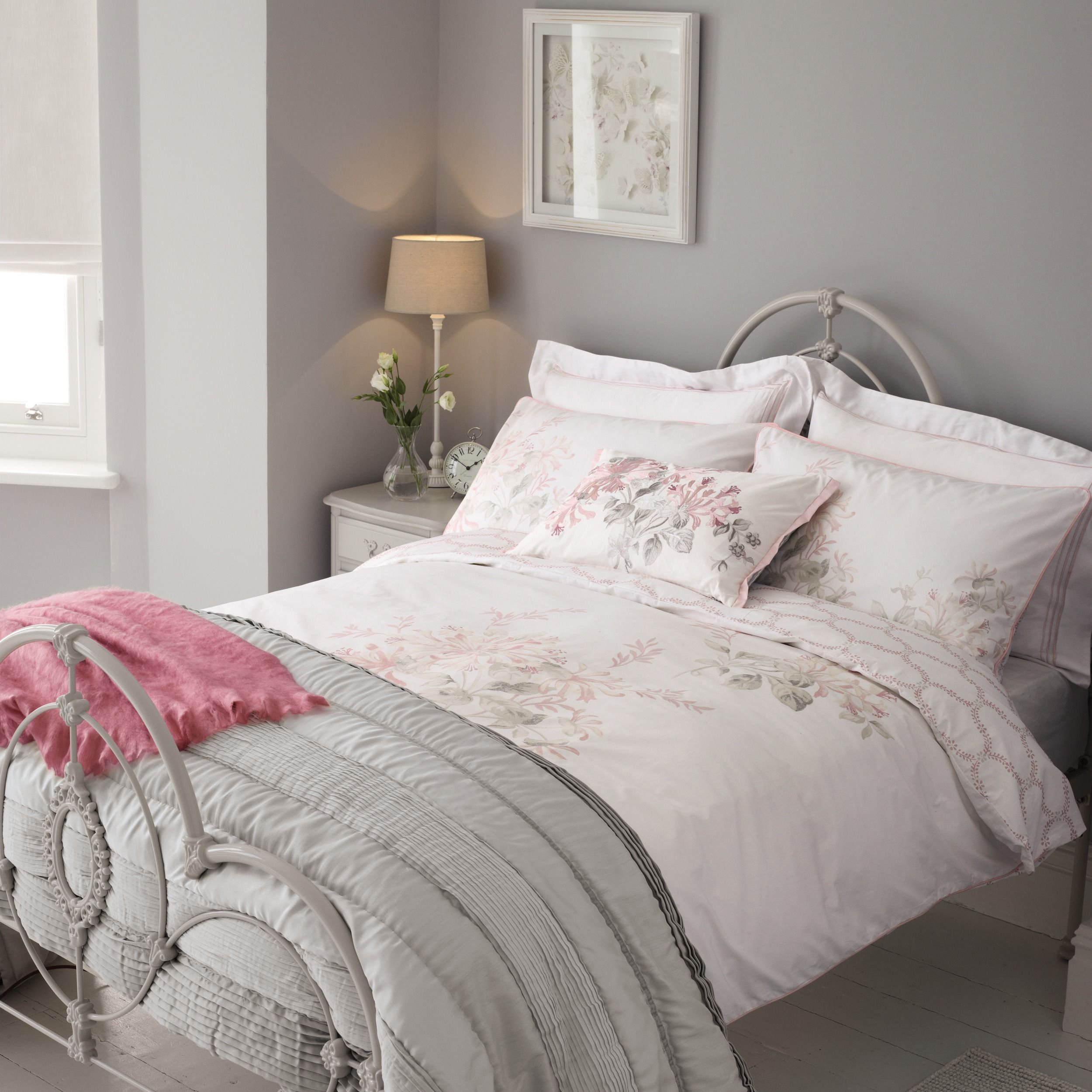 Laura Ashley Honeyle Trail Cyclamen Duvet Cover