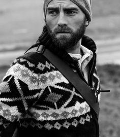 Hat, Sweater, Beard