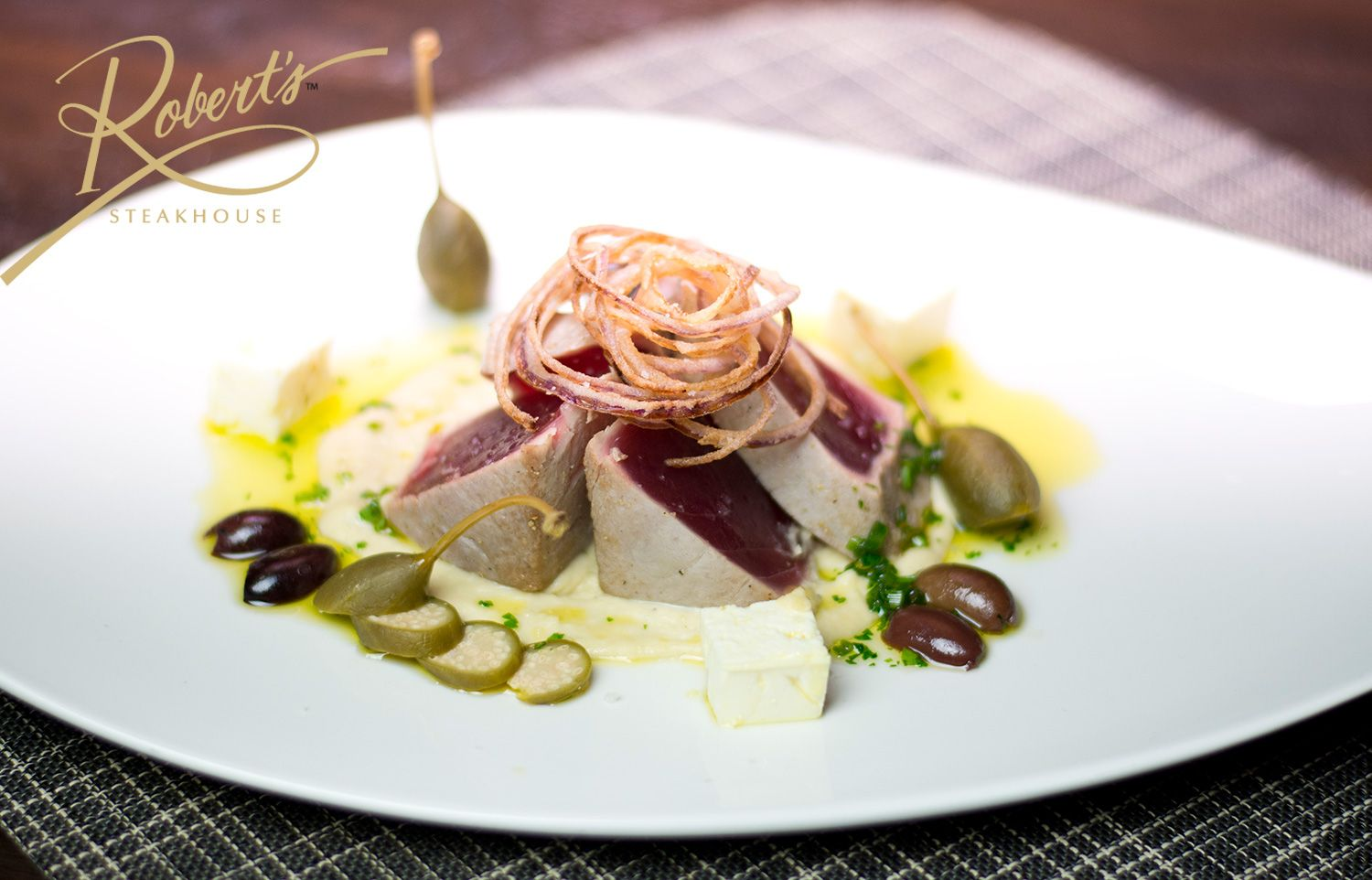 Food or modern art? Chef Savarese's Tuna a la Plancha is both!