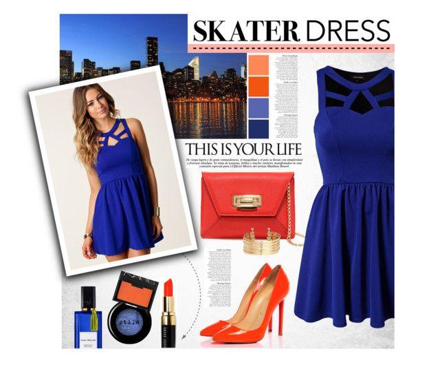 """Skater Dress"" by ellergy ❤ liked on Polyvore"