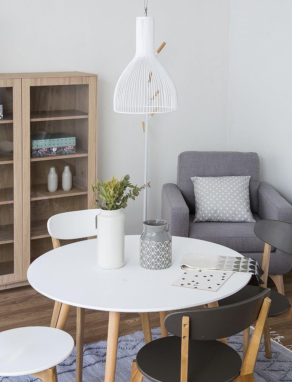School silla blanca | Cocina redonda, Mesa de comedor y Comedores