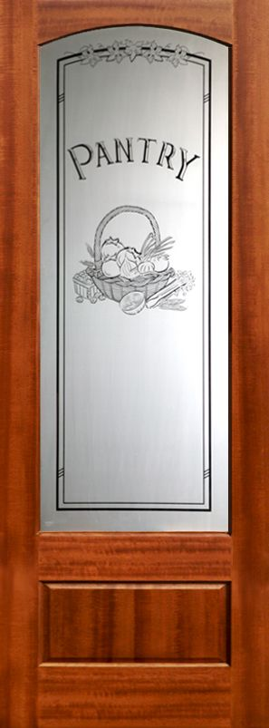 Pantry Door Frosted Glass