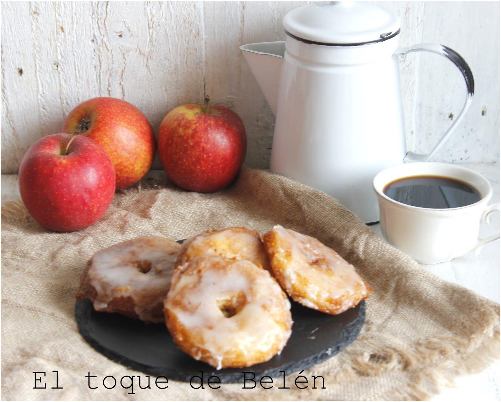 Hola os gustan los donuts? y las manzanas ? y si las juntamos que os parece, pues nos queda un donuts de mazana que rico .. no os lo podéi...