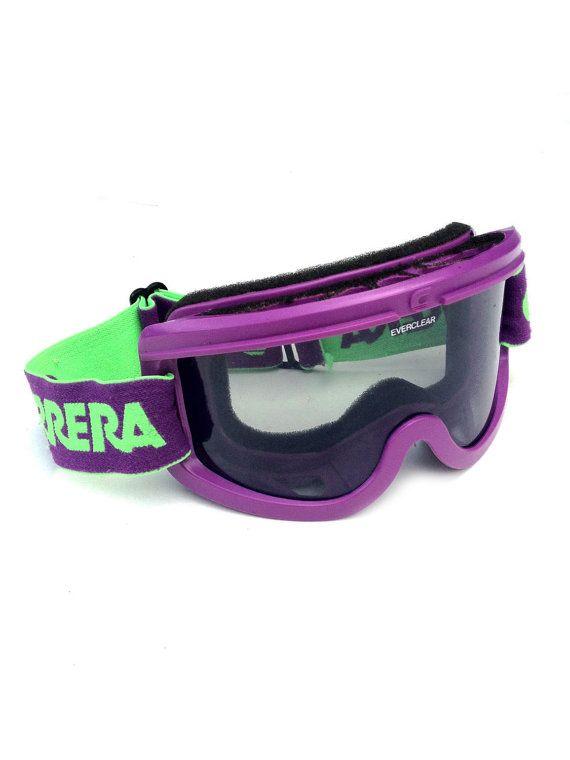 eea58c4c011 Wicked 80s Neon Carrera Ski Goggles by NeonStockyards on Etsy