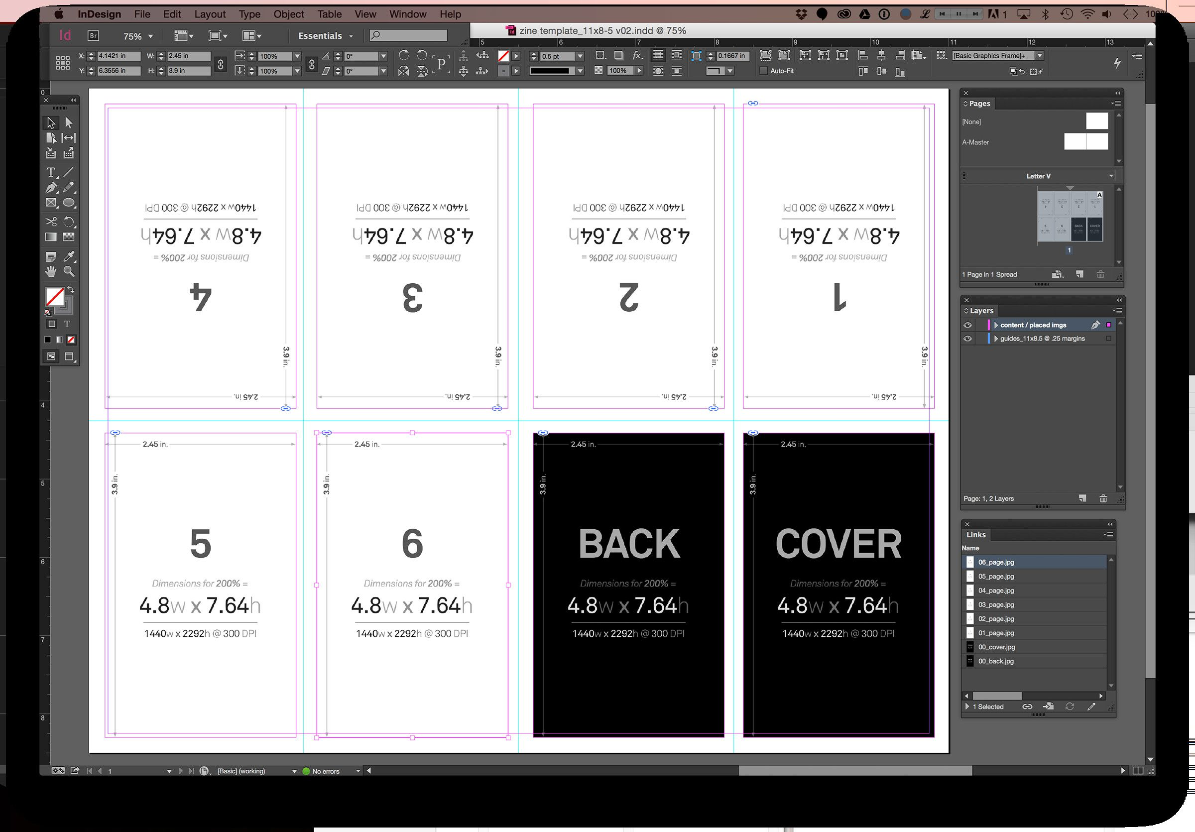 Indesign Page Layout Templates Indesign Page Layout