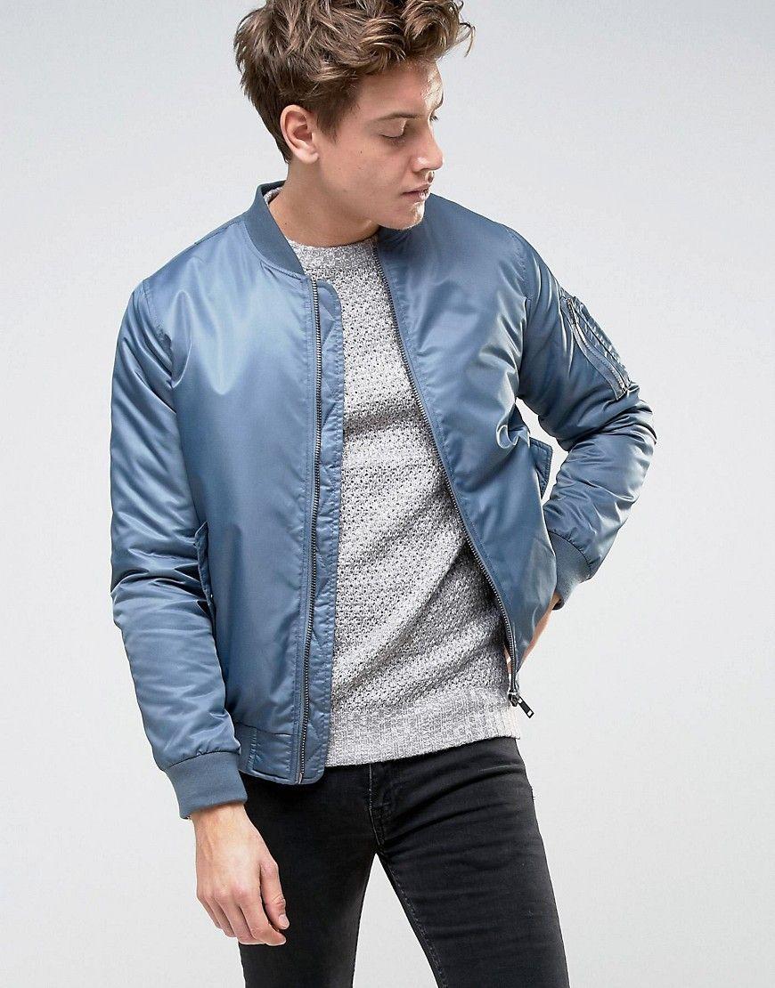 Brave Soul Ma1 Bomber Jacket Blue Bomber Jacket Bomber Jacket Fashion Leather Jacket Men [ 1110 x 870 Pixel ]