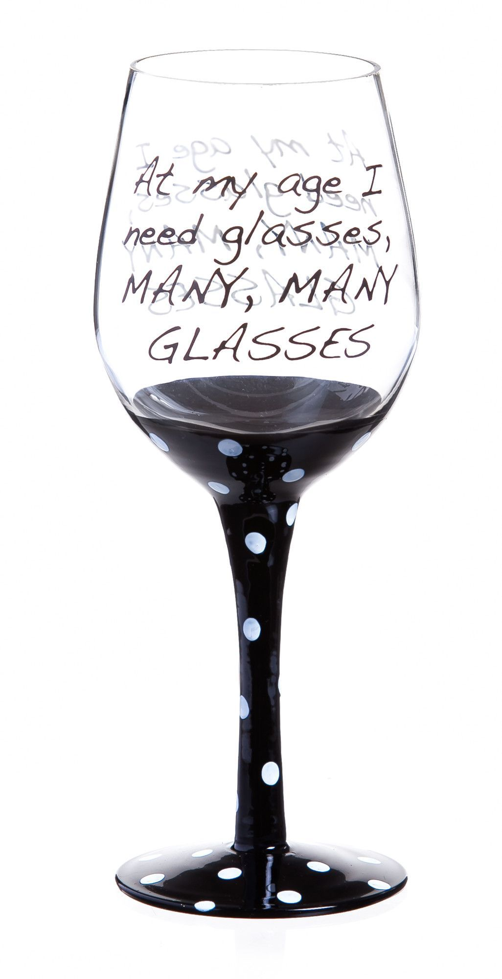 Black Wine Goblets Features Quote Color Black Ink Brutal Collection
