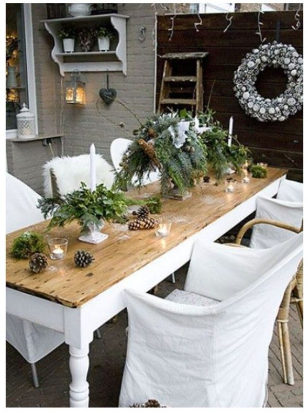 Image Result For Scandinavian Christmas Table Decorations Christmas Table Settings Outdoor Christmas Decorations Winter Table Centerpieces