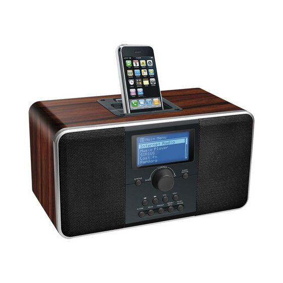 Wireless Wifi Internet Radio Receiver Retro Style View Internet