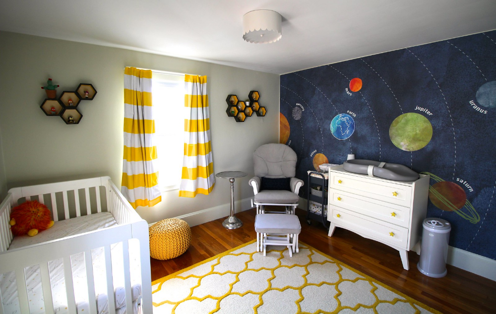 Space themed nursery theme Space themed nursery, Nursery