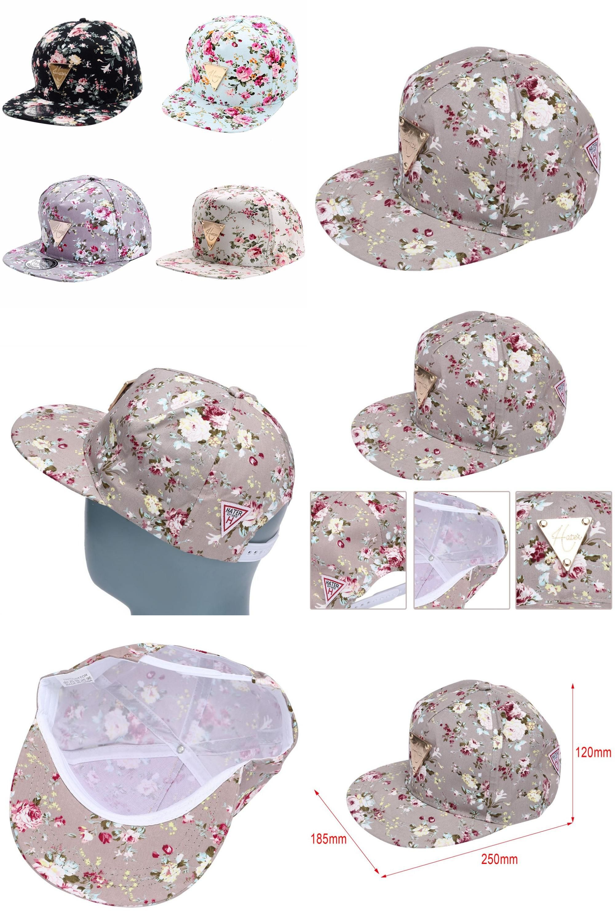 [Visit to Buy] High Quality Women summer caps Embroidered Floral Flower Snapback flat hip hop caps Adjustable Baseball gorras Caps summer  hats #Advertisement