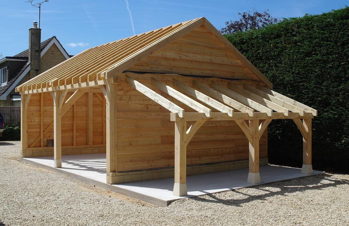 Made In Oak On Twitter Backyard Sheds Carport Sheds Oak Framed Buildings