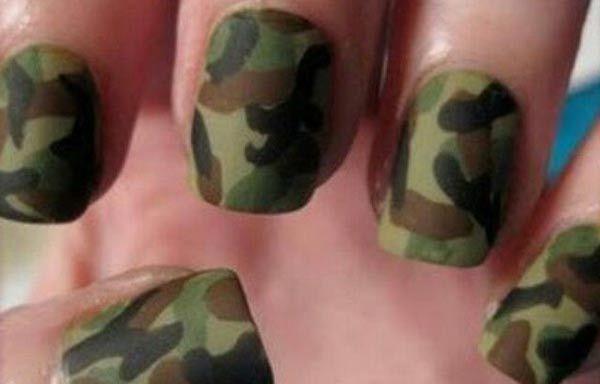 Uñas Decoradas Colores Oscuros Uñas Pinterest Nails Camo