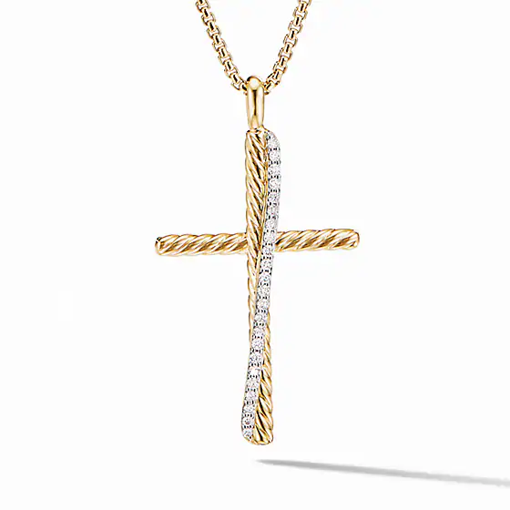 The Crossover Collection Xl Cross Necklace With Diamonds David Yurman Cross Necklace Cross Jewelry Necklace Cross Jewelry
