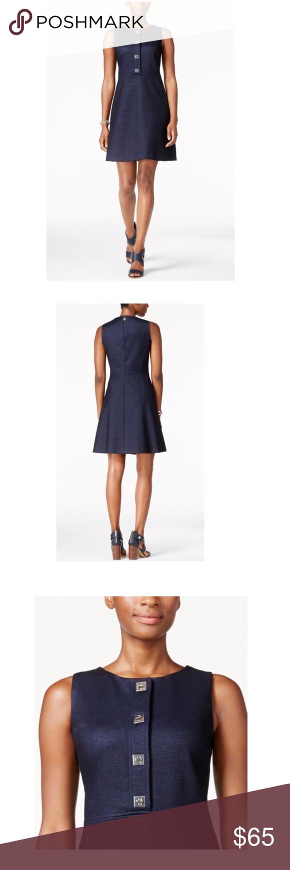 NWT Tommy Hilfiger Navy Turnlock Dress Sz. 14 Beautiful dress Tommy Hilfiger Dresses