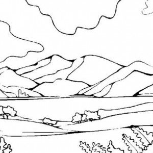 Mountains View Landscapes Coloring Pages Bulk Color With Images