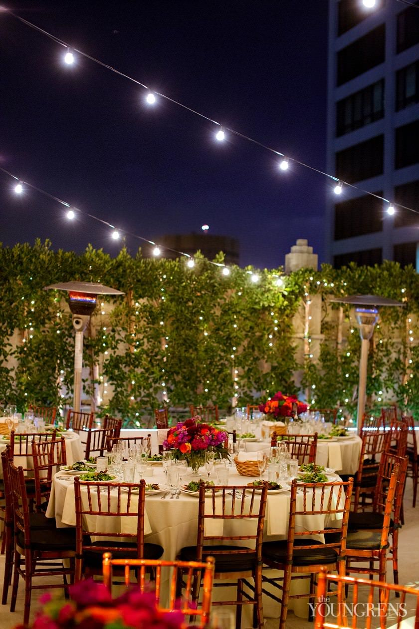 Grand Park vintage couple Oviatt Penthouse Wedding
